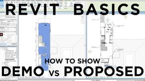 Revit Basics: How to Show Demo vs Proposed