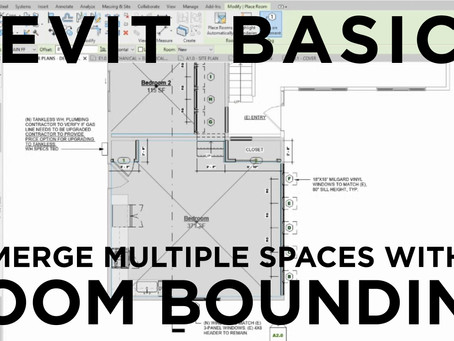 Revit Basics: Merge Multiple Spaces with Room Bounding