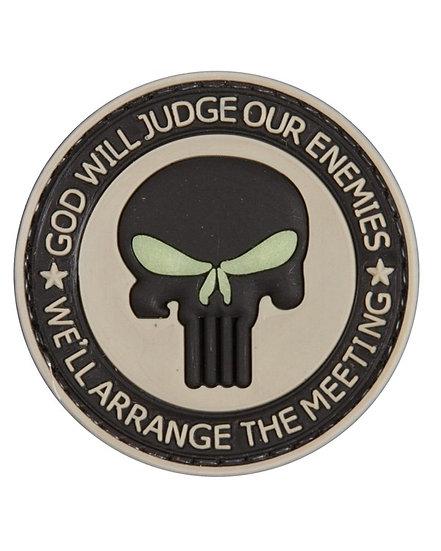 Nášivka GOD WILL JUDGE, 3D