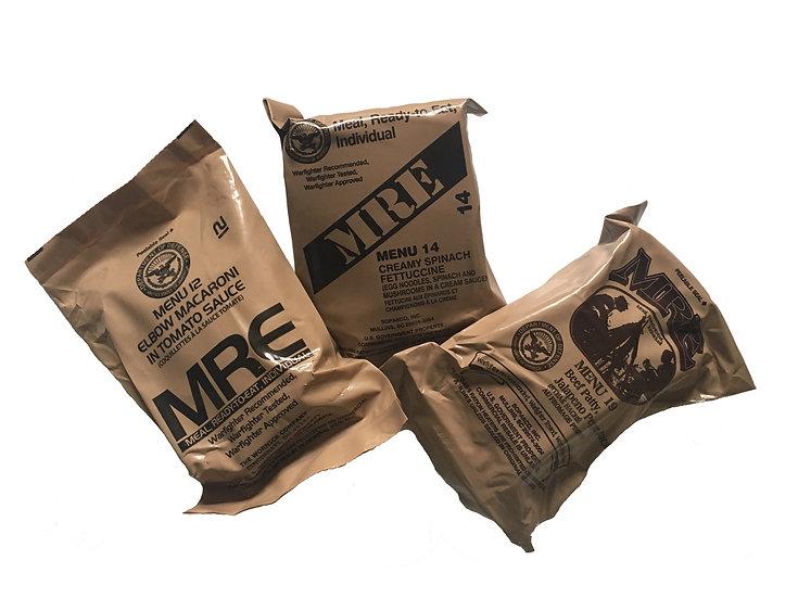 MRE - potravinové dávky USA