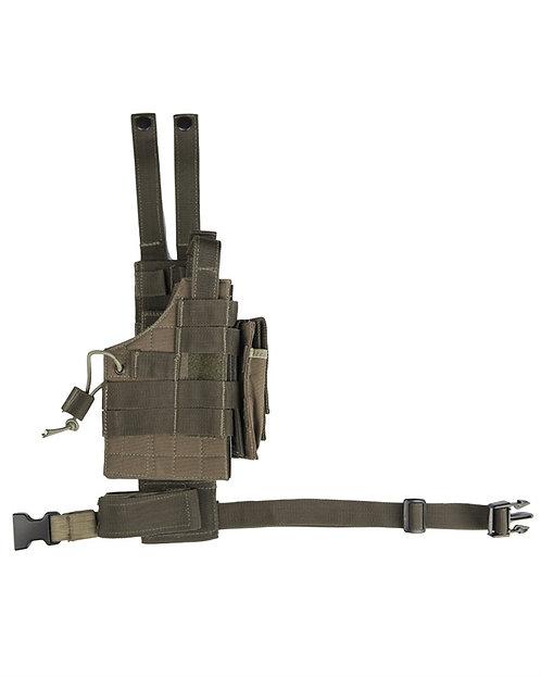 UNI pouzdro na pistol taktické + závěs MOLLE, oliv