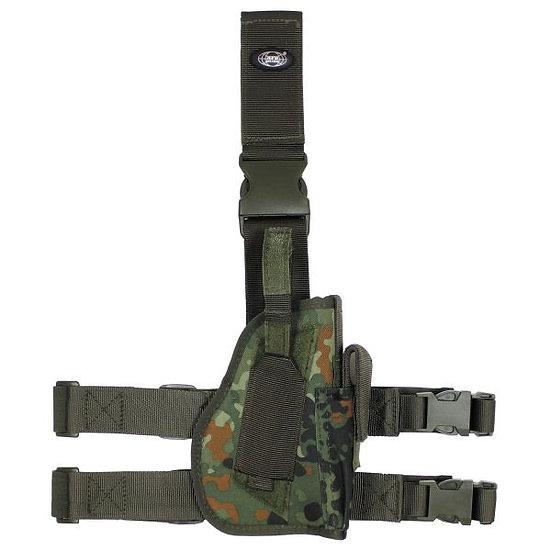Pouzdro stehenní UNI, zbraň + zásobník, BW flek