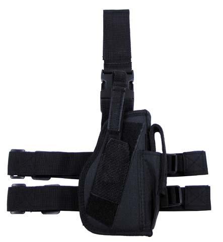 Pouzdro stehenní UNI, zbraň + zásobník, černé