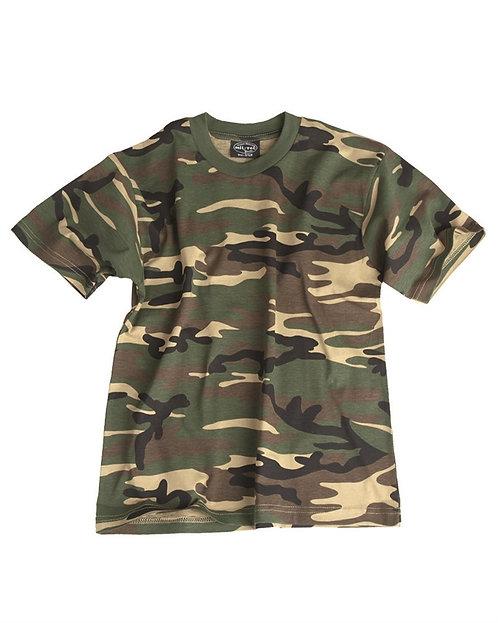 Dětské tričko U.S., woodland