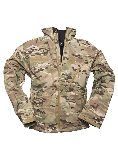 Bunda Soft-shell, multicam