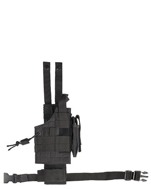 UNI pouzdro na pistol taktické + závěs MOLLE, černé