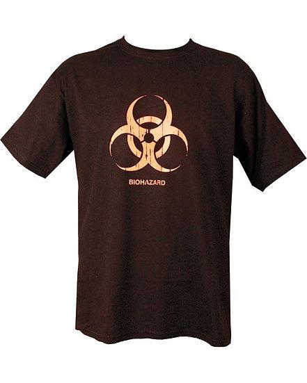 """Dětské tričko s potiskem """"BIOHAZARD"""", černé"""