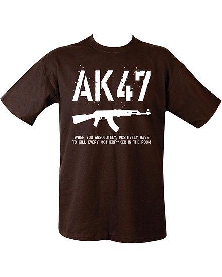 """Triko s potiskem """"AK47"""", černé"""