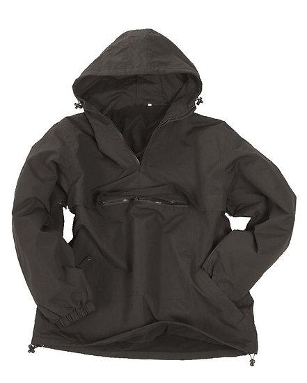 Anorak černý, nepromokavý, fleece podšívka