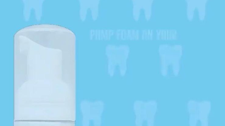 Teeth whitening foam 2in1