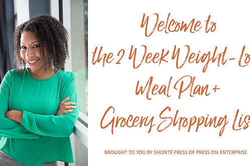 The 2 Week Weight-Loss Meal Plan + Bonus Grocery Shopping List