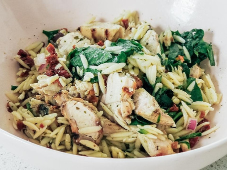 Mediterranean Chicken and Orzo Bowl