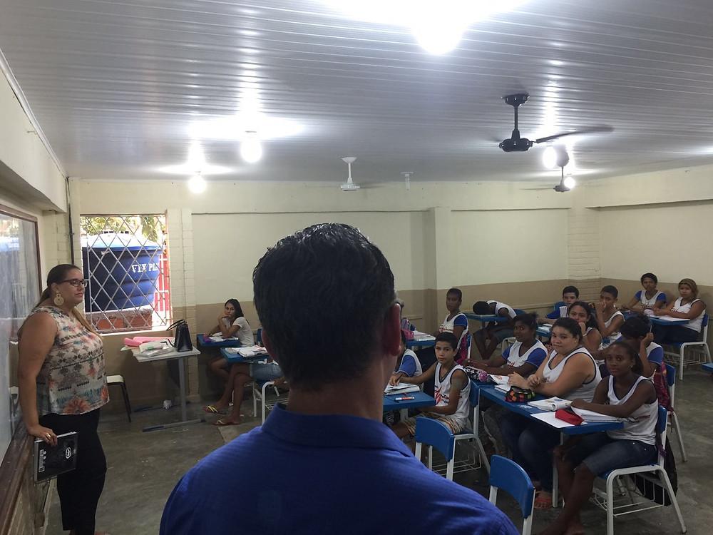 Majeski visitou também a Escola Governador Lindenberg, em Barra de São Francisco