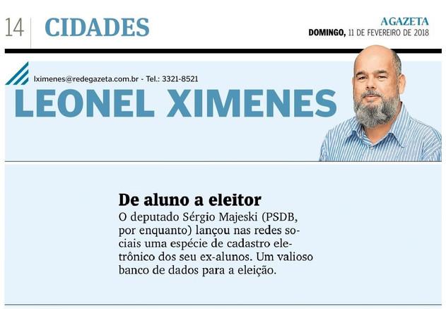 A Gazeta - Coluna Leonel Ximenes - De aluno a eleitor - 11-02-2018.jpg