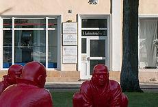 Eingang Zahnarztpraxis am Schönleinsplatz