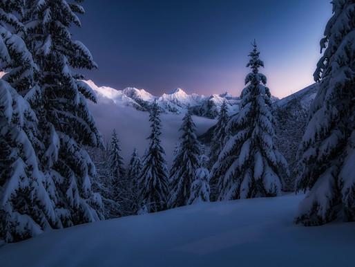 Magický západ slnka na poľskej strane tatier - Gesia Szyja