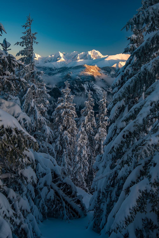 Zasnežený výhľad na Tatry, Gesia Szyja