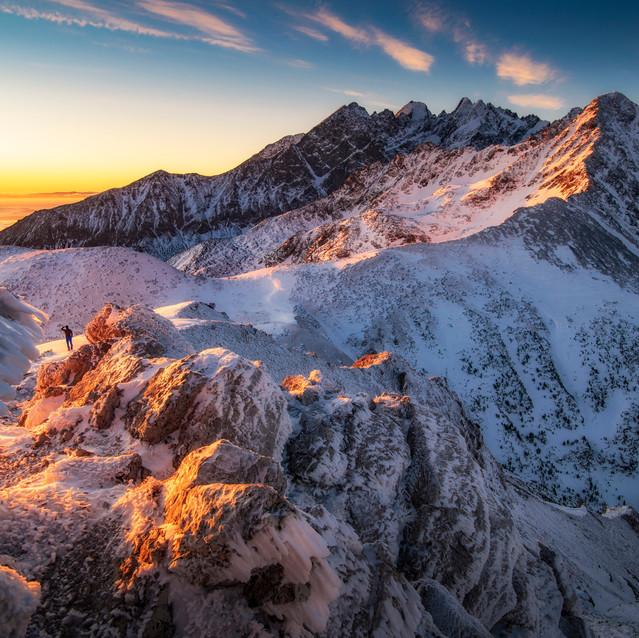Východ slnka na horách