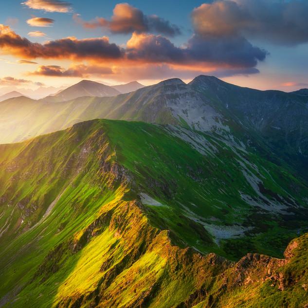 Farebné hrebene Tatier