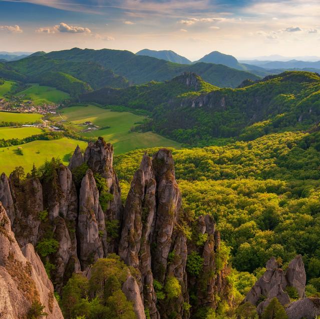 Súľovské skaly, západ slnka