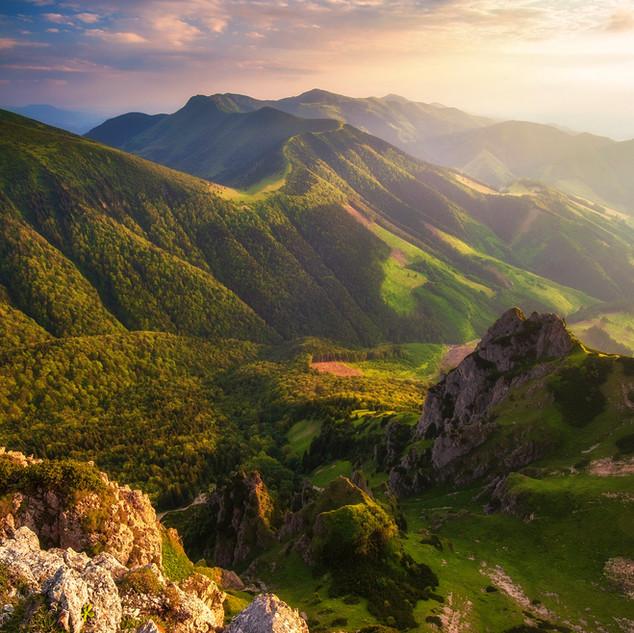 Západ slnka nad Vrátnou dolinou