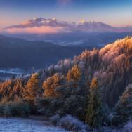 Jesenný pohľad z Lesníckeho sedla