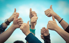 Group of Thumbs up