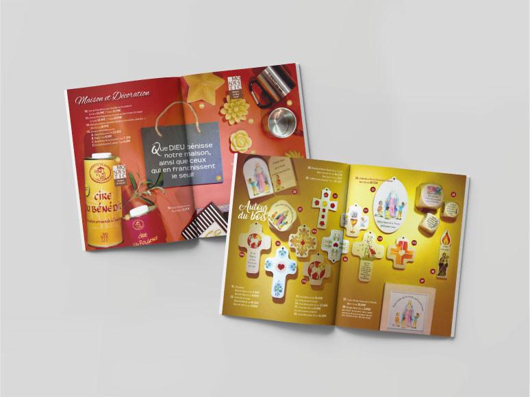 Edition d'un magazine pour la boutique du sanctuaire