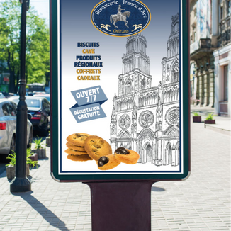 Affichage Biscuiterie Tours