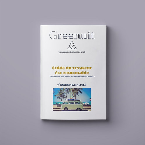 E-book | Guide du voyageur éco-responsable | GREENUIT | 30 pages