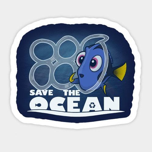 Sticker autocollant SAVE THE OCEAN | Sélection exclusive GREENUIT
