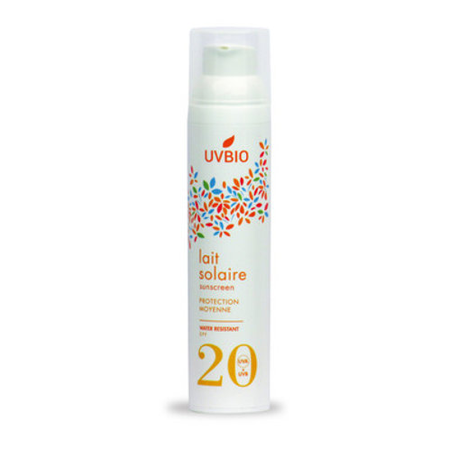 Lait solaire 100ml SPF20 | UVBIO | Eco-friendly, Vegan & Bio