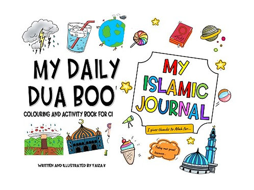 Daily Dua book and Islamic Journal bundle