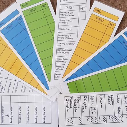 Tajweed Target Cards