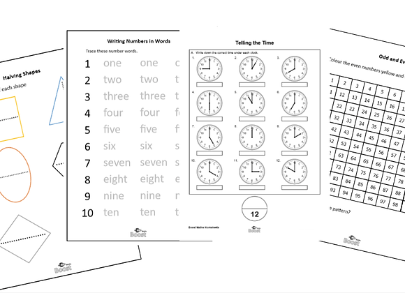 Over 1000 Maths Worksheets Year 1 to Year 6- DIGITAL FILE