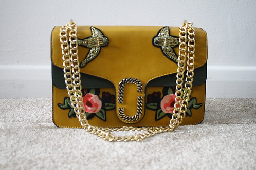 Embroidered ALICIA Messenger Bag