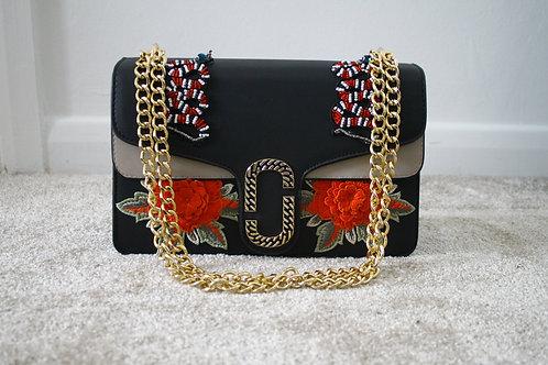 Embroidered ASHLEIGH Messenger Bag