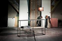 Console en métal et en bois