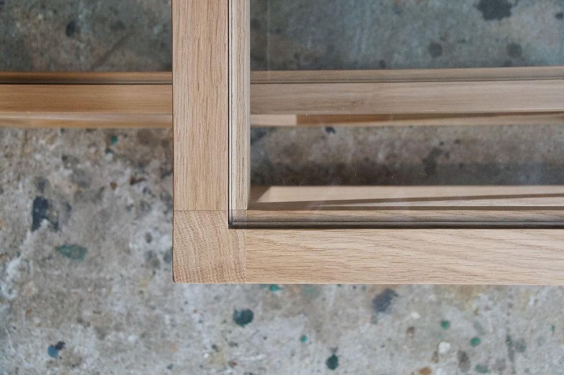 table basse bois et verre