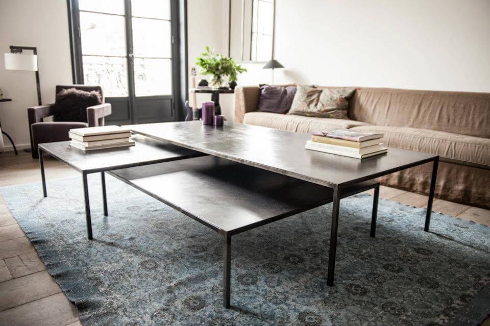 Table basse gigogne en métal