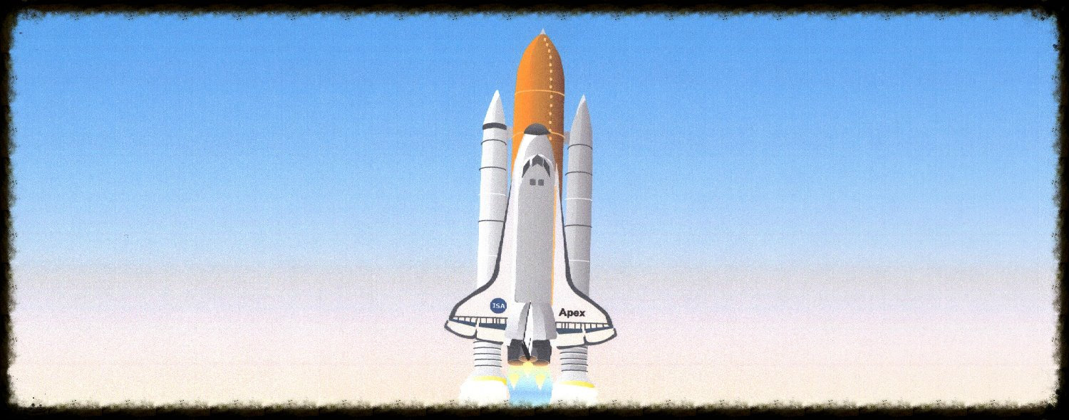 Launch of the space shuttle.