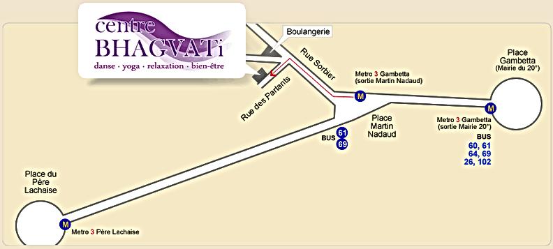 Centre Bhagvati - Plan d'accès