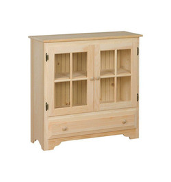 Country Bookcase Cabinet $261