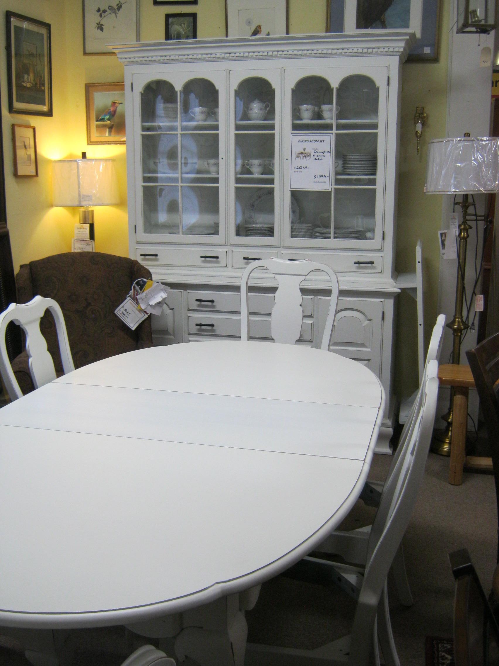 Vintage White Dining Set