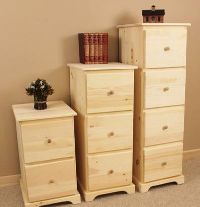 Amish Pine File Cabinets