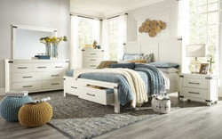 White Platform Bedrooms Industrial Style
