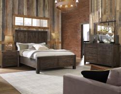 Platform Bedroom in Rustic Acacia Wood
