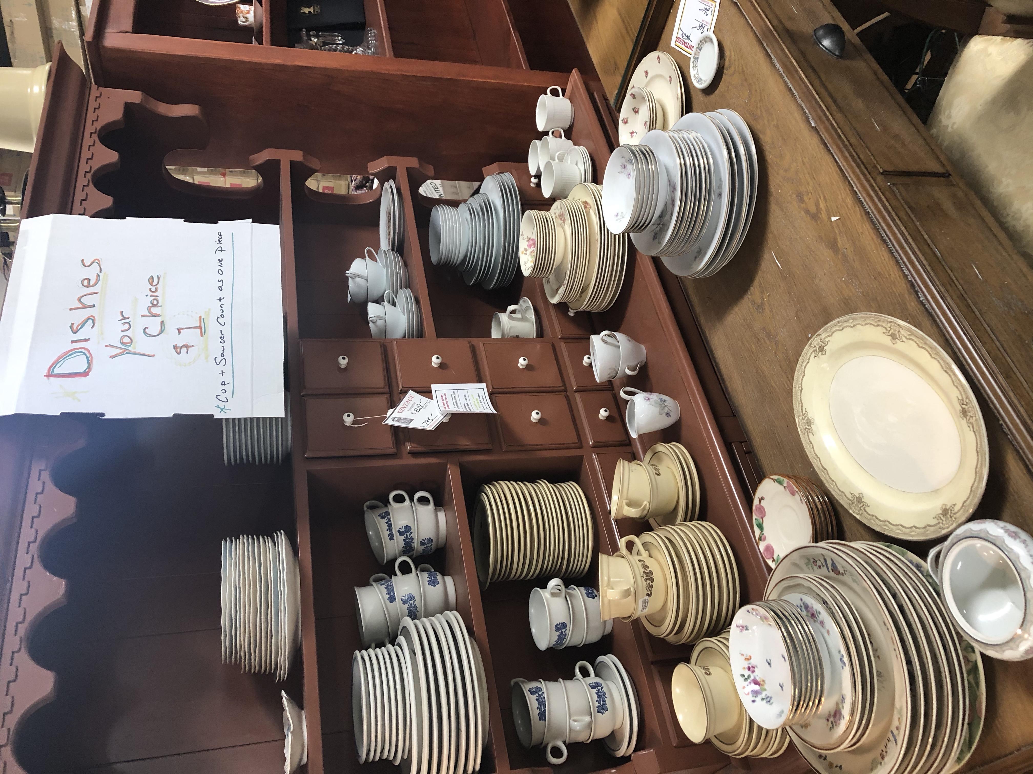 Vintage $1 Dishes