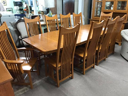 Amish Table + 10 Chairs