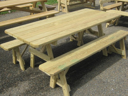 Separate Bench Picnic Tables